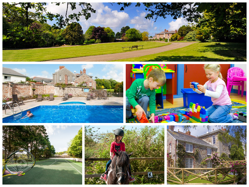 collage of images showing broomhill manor holidays