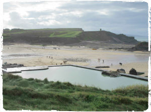 Scenic Bude as seen from the cliff tops