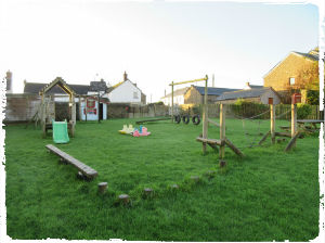 The outdoor play area at Court Farm