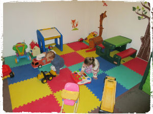 The indoor soft play area at Court Farm