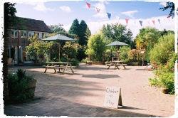 the courtyard at Mazzard Farm