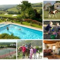 collage of images of treworgey cottages ,cornwall