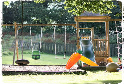 outdoor play area at clydey