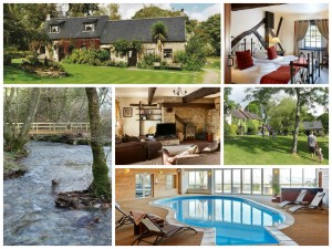 collage of images of clydey cottages, pembrokeshire