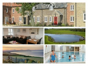 collage of photos showing harlequin cottage, north yorkshire