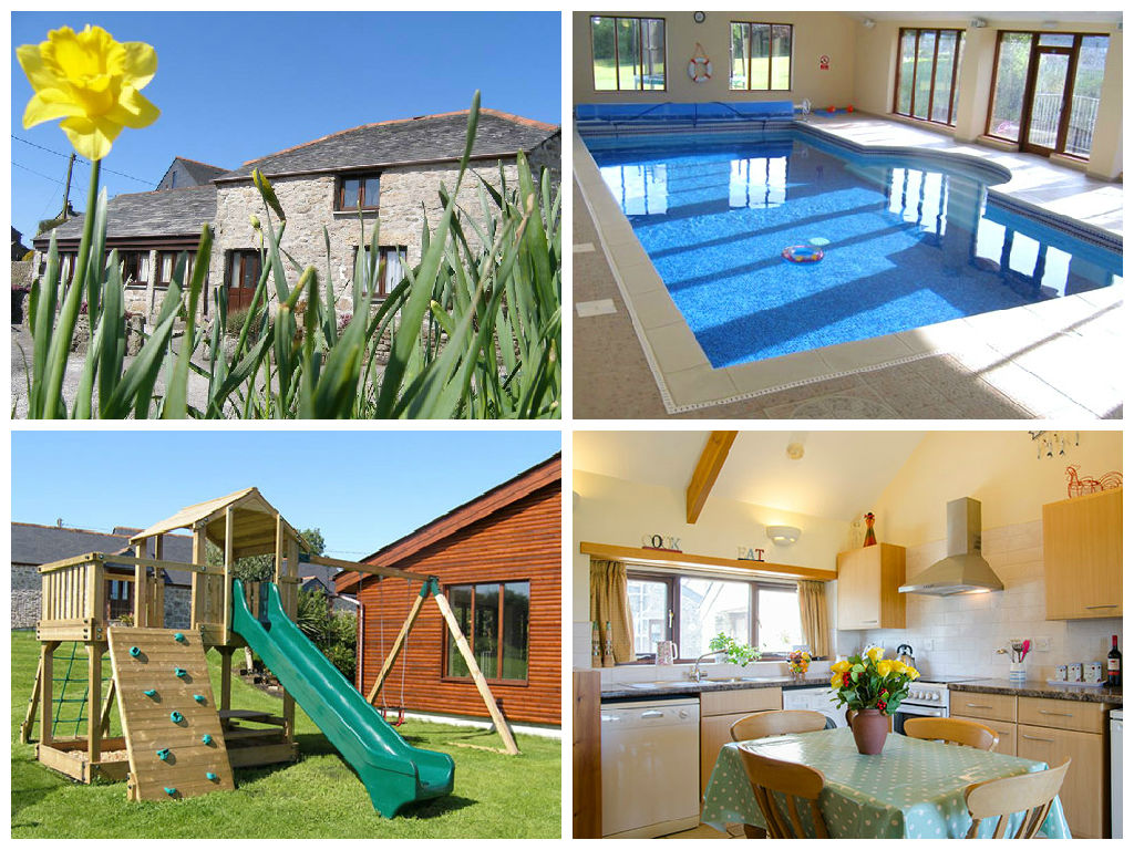 collage of images showing family friendly holidays at higher menadew farm
