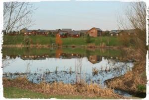 The lake at Bluestone resort