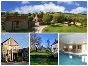 a collage of photos showing middlewick holiday cottages