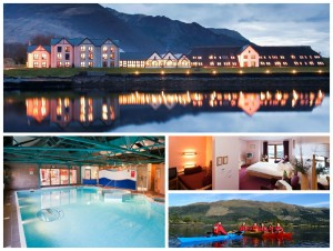 collage of images showing the Isles of Glencoe Hotel
