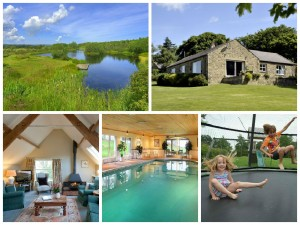 collage of images showing family friendly holidays at beacon hill farm