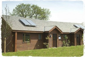 group accommodation in a bluestone lodge