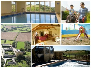 collage of images showing tredethick farm cottages