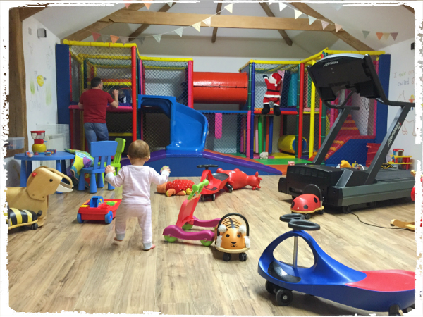 the children couldn't get enough of Bosinver's well equipped soft play area
