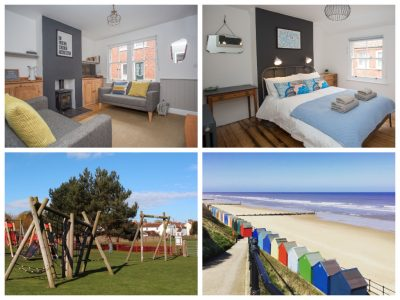 collage of images of stones throw cottage mundesley
