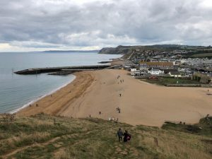 Climbing the steep cliff at Westbay was an effort well worth making!