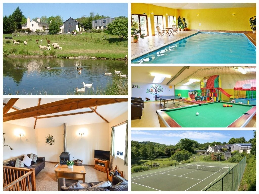 collage of images showing knowle farm, devon