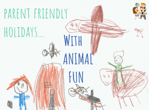child and family friendly holidays with animal fun