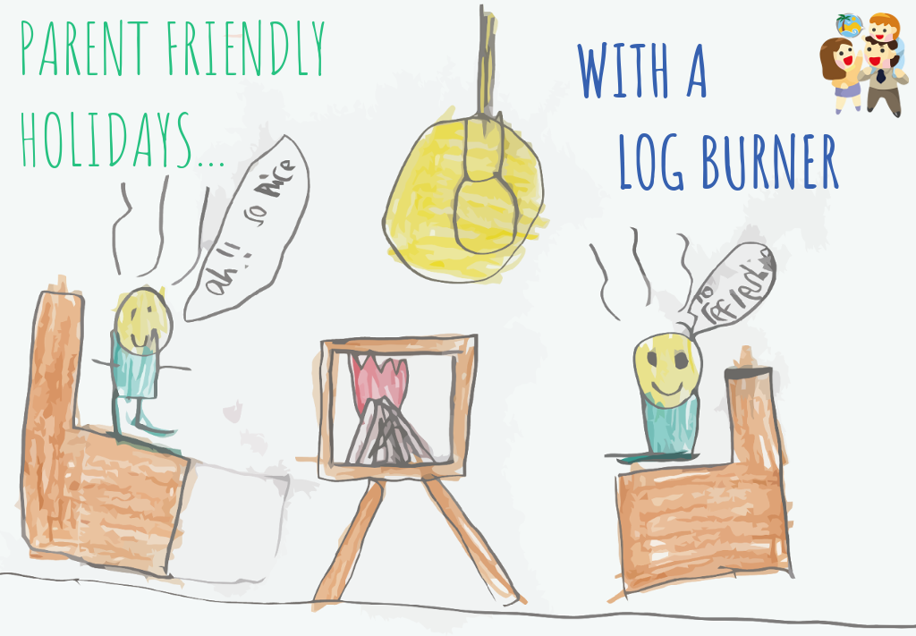 child and family friendly holidays with a log burner