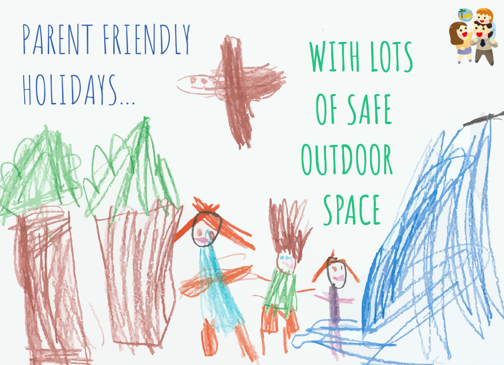 child and family friendly holidays with safe outdoor space