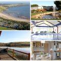 collage of images of par sands cornwall