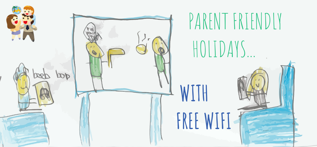 child and family friendly holidays with free wifi