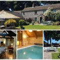collage of photos of haddon grove farm cottages
