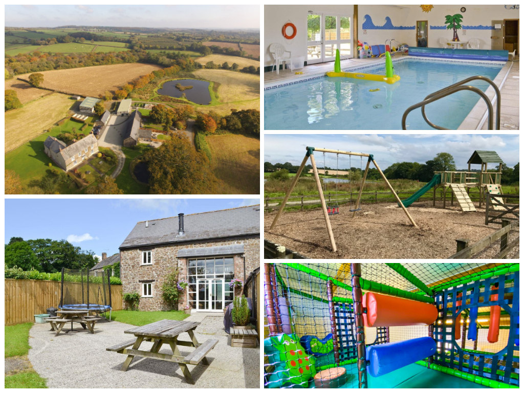 collage of images showing child friendly holidays at libbear barton