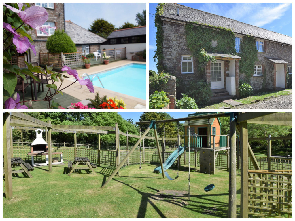 collage of images showing child friendly devon holidays at country life