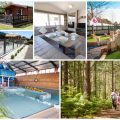 collage of images of family friendly Dorset holidays at Oakdene Forest Park