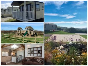 collage of images showing child and family friendly cornwall holidays at pentire