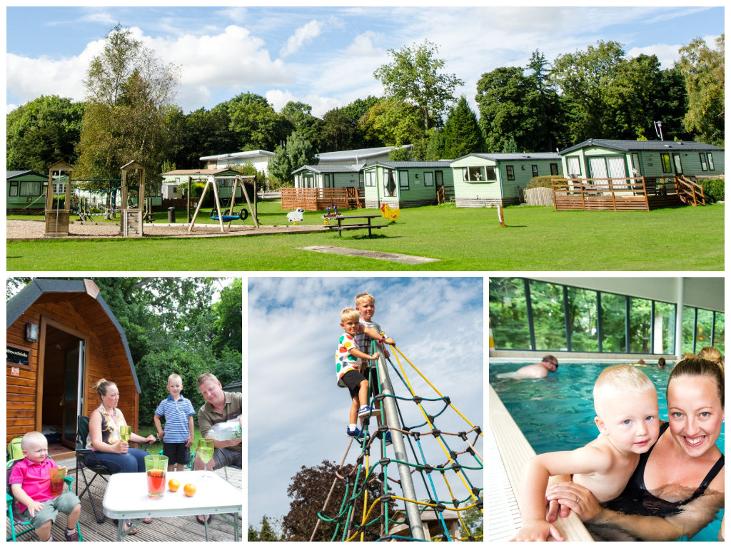 collage showing child and family friendly lake district holidays at fell end holiday park