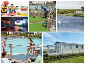 collage of images showing lakeland leisure park