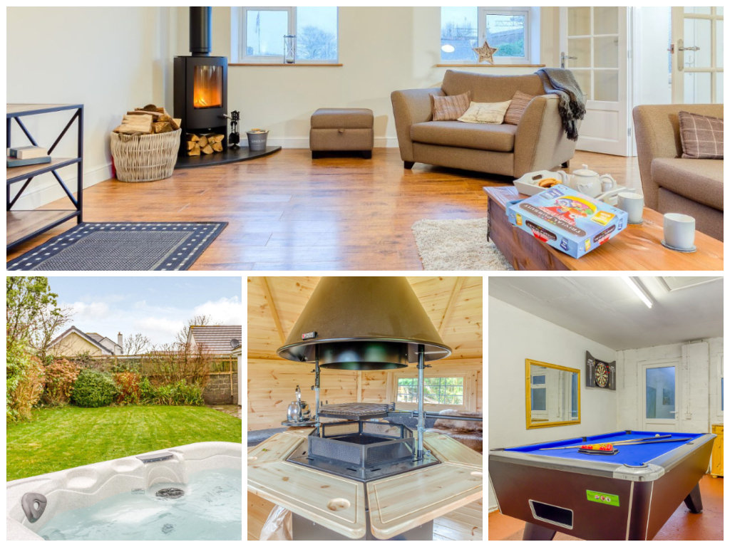 collage of images showing child and family friendly devon holidays at this beautiful rural cottage
