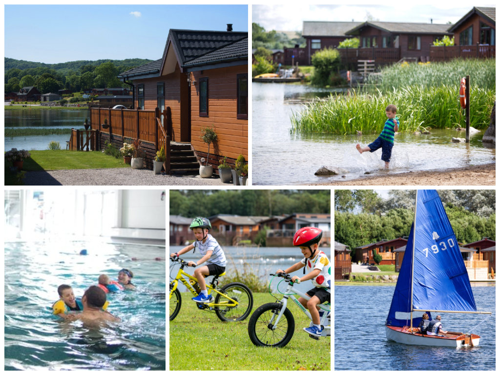 collage of images showing child friendly holidays at south lakeland leisure park