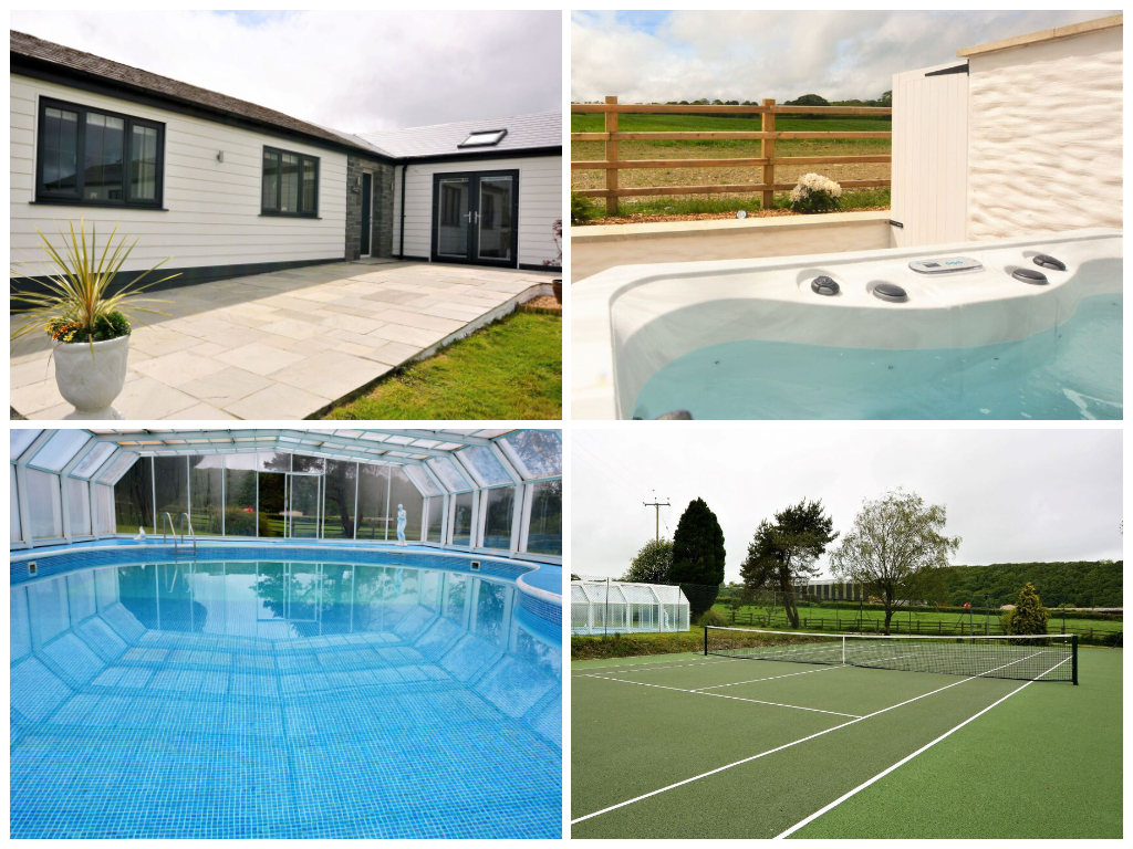 child friendly welsh cottages with swimming pool and tennis court