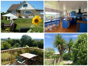 collage of images showing child friendly isle of wight holidays at three gables