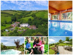 collage of images showing child and family friendly holidays at coulscott