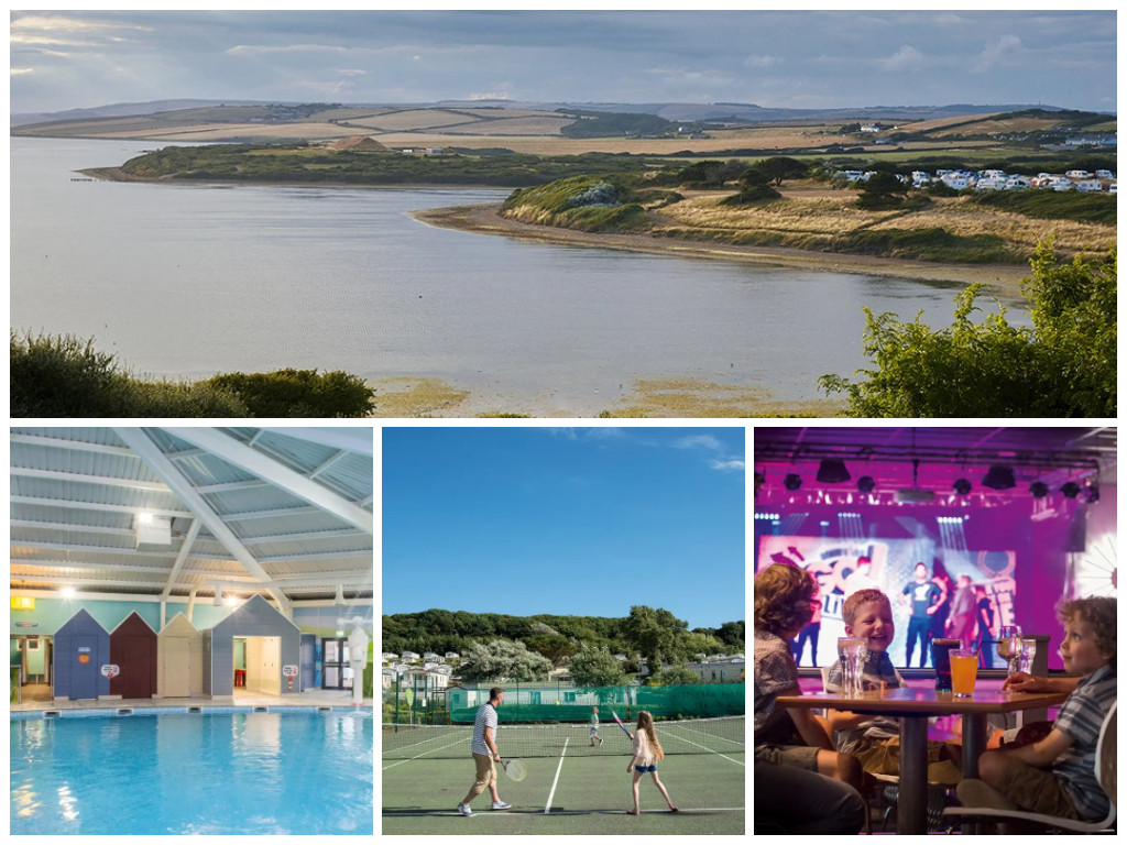 collage of images showing family friendly dorset holidays at littlesea