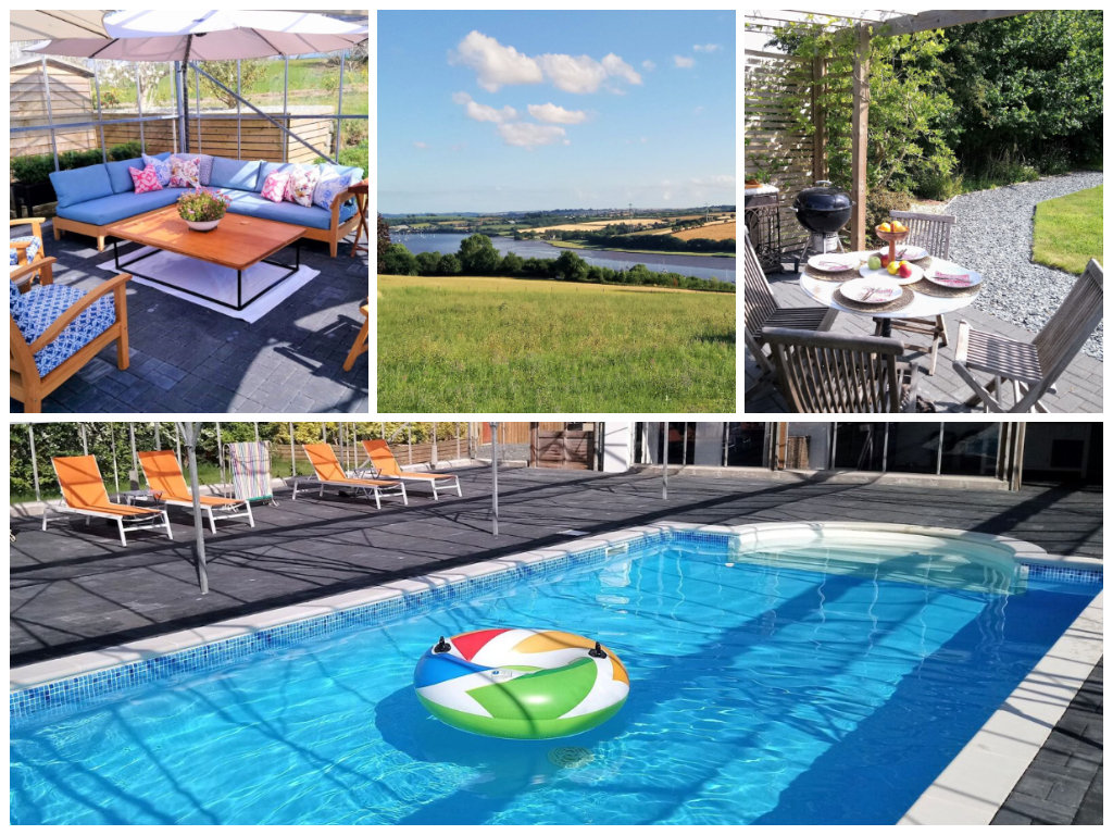Rural cottage with amazing views and a pool, Devon