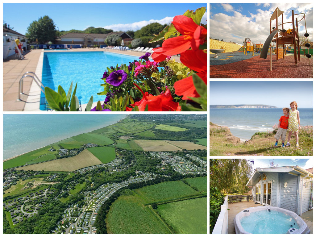 collage of images showing shorefield country park, hampshire